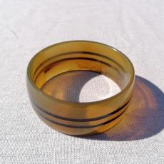Striped horn bangle