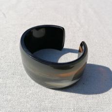 Cuff made of natural buffalo horn, black