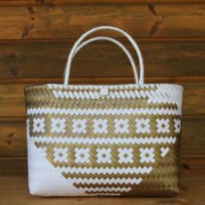 Handtasche Gold/Weiß