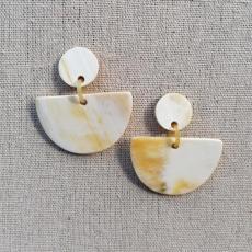 Horn earrings, semicircular