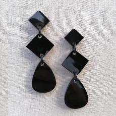 Elegante Ohrringe aus Büffelhorn