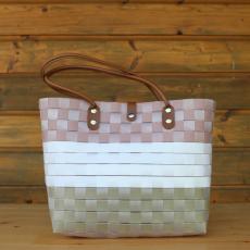 Handtasche Pastell Tricolore