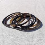 Set of 7 thin horn bangles