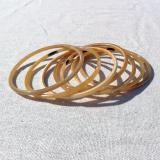 Set of 7 thin horn bangles