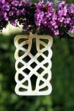 Anhänger aus Horn, rechteckig, keltischer Knoten