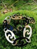 Hornkette aus Kuh- und Büffelhorn