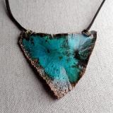 Tresviri - electroformed copper pendant