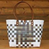 Handtasche mit Muster in Brauntönen