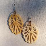 Art Nouveau Earrings, light