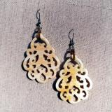 Baroque horn earrings
