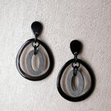 Earrings made of buffalo horn